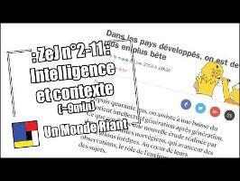 Zététique et journalisme - #2-11 - Intelligence et contexte