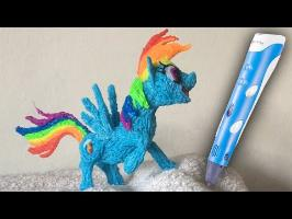 3D Pen Art - Rainbow Dash - My Little Pony (MLP)