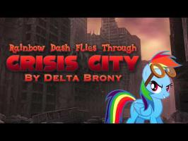 Rainbow Dash Flies Through Crisis City