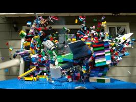 Lego Plane Crash in Slow Motion - The Slow Mo Guys