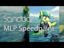 SandBar (My Little Pony Speedpaint)
