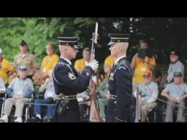 US Army Honor Guard Rifle Expection with close-up audio