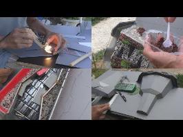 La conception & construction des fontaines ► méthodes de découpes, collage, assemblage...