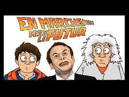 Macron en marche vers le futur - Caljbeut