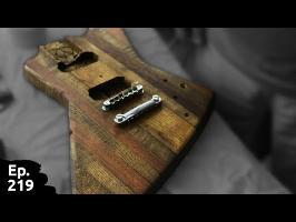 projet guitare / sixième partie - derenières cavités, finition du corps - Ep 219