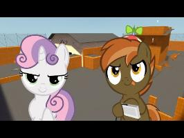 Button Mash and Sweetie Belle Play (Team Fortress 2)
