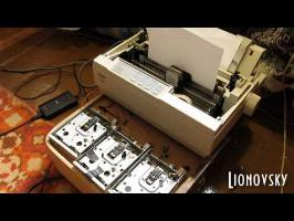 Duck Tales Intro on Dot Matrix Printer and Floppy Drives