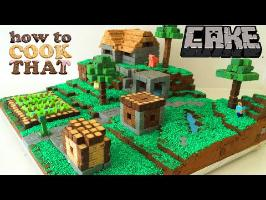MINECRAFT CAKE VILLAGE How To Cook That Ann Reardon