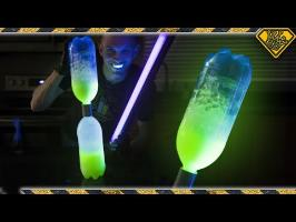 Make a Tornado Tube that GLOWS in the Dark!