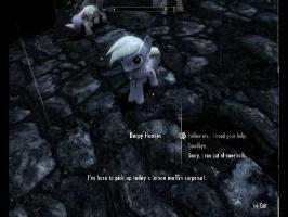 Skyrim extra pony (and dragon) companions - Derpy, Spike, and Luna