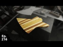 projet guitare / troisième partie - ajustement et découpage du plateau - Ep 216