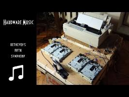 Beethoven's Fifth Symphony on Dot matrix printer and Floppy drives