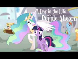 A Day in the Life of a Purple Alicorn