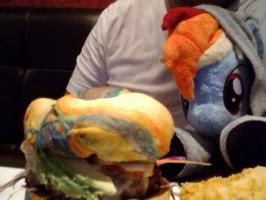 GET A LIFE-RAINBOW DASH BURGER