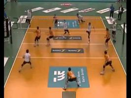Hilarious Volleyball Triple Head Shot