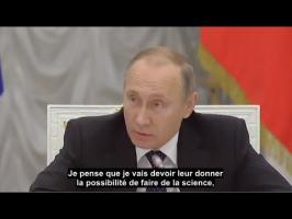 V. Poutine menace de limoger les hauts fonctionnaires scientifiques