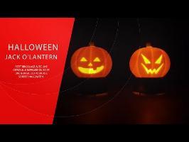 Halloween - 3D Jack O'Lantern à LED