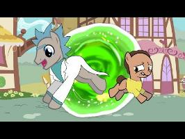 Rick and Morty Meets My Little pony CROSSOVER ANIMATION
