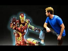 Iron Man's Armor - 3D Chalk Art Animation!