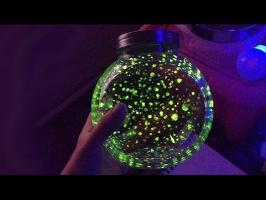 Phosphorescent Trick Art ! Magic Fireflies JAR