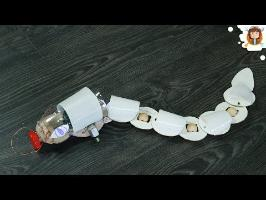 How to make a Snake Robot - Obstacle Avoiding Robot