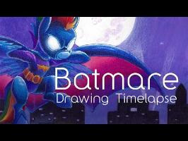 Shes Batmare (My little pony speed drawing commission. Memorial Drawing)
