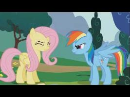 Rainbow Dash and Fluttershy - Fus Ro Dah!
