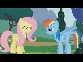 Rainbow Dash and Fluttershy - Fus Ro Dah!