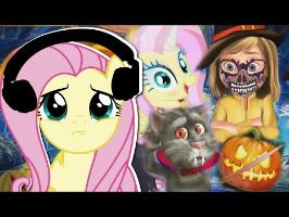 Fluttershy plays Weird Pony + Halloween Games ???? | I'M FINE c: