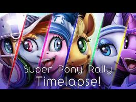 Super Pony Rally (Art timelapse)