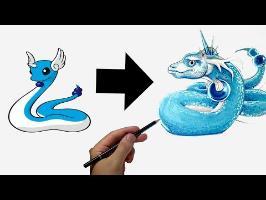 Je dessine les Pokémons en version.. Réaliste !