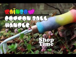 Rainbow Cotton Ball Handle