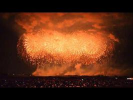 広角:Wide-anngle|鳳凰乱舞 2014 こうのす花火大会 正四尺玉 world's heaviest firework shell.konosu city. Saitama,Japan