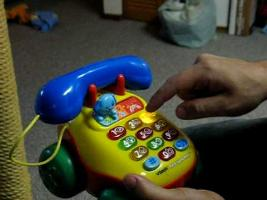 How to get the baby phone toy to curse