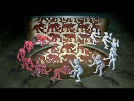 MC Escher 3D Chalk Art - AWE me Artist Series