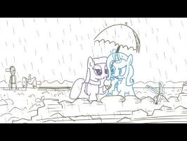 Between a Rock And a Hard Place (Trixie and Maud Pie story)