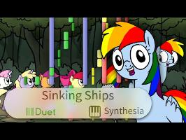 Sinking Ships - FimFlamFilosophy - |DUET PIANO COVER w/LYRICS| -- Synthesia HD