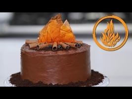 DIVERGENT DAUNTLESS CAKE - NERDY NUMMIES