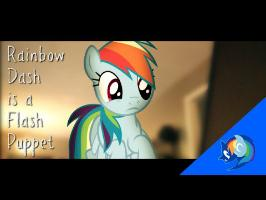 Rainbow Dash is a Flash Puppet - MLP IRL