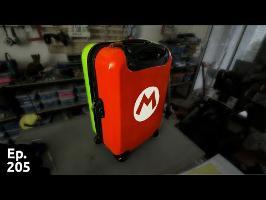 Transformation d'une valise toute triste grise en super valise Mario-Luigi - Ep205