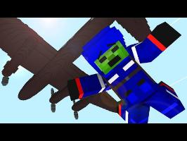 Monster School : Parachute Jumping ! - Minecraft Animation