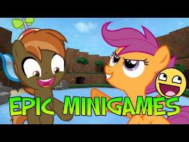 Button and Scootaloo Plays Roblox Epic MiniGames