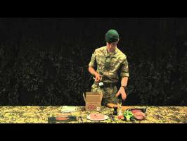 Royal Marines Reserves: ration pack demonstration