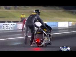 Bikers end up finishing Thunder 400 drag race on football 2016