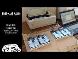 Trololo Song on Dot matrix Printer and Floppy drives