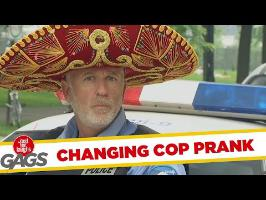 One Cop, Six Hats Prank