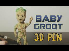 3D Pen | Making Baby Groot | Guardians of the galaxy vol. 2 | MARVEL | 3D Printing Pen Creations