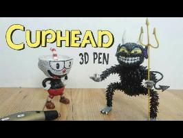 3D Pen | Making Cuphead and The Devil | Final Boss | Haciendo a Cuphead y al Diablo con el lapiz 3D