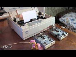 All Levels at Once - Fluttershy's Lament on Dot Matrix Printer and Floppy drives