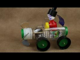 How to make a Car - Rubber Band Powered Car - Very Simple
